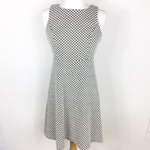 Loft Herringbone Patterned Mini Career Dress sz 0P